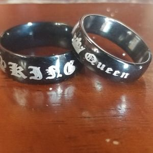 New King and queen ring set his and her